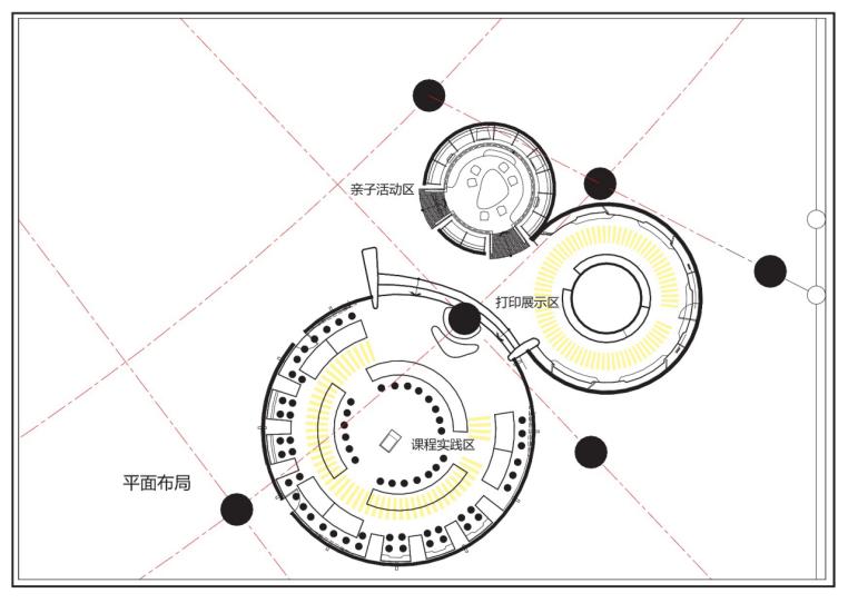 上海科技馆3D打印创客空间整体平面布局图