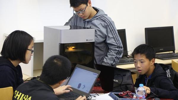 Mankati为上海市实验中学建设的3D打印创客空间